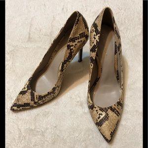Elie Tahari Snakeskin Leather Heels